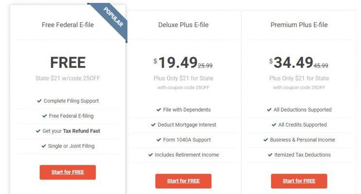 Addis Mart E-File Prices